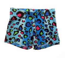 BP Designs Girl's XL Turquoise Pebble Dance Shorts