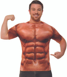 Muscle T-Shirt Print Abs Adult