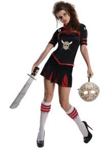 Jason Vorhees Cheerleader Style Ladies Outfit Licensed Friday the 13th Size XSmall