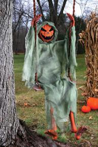 Pumpkin Swinging on a Swing 5' Figure