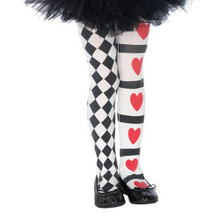 Harlequin & Hearts Girl's Tights