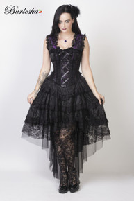 Ophelie Purple King Brocade Dress