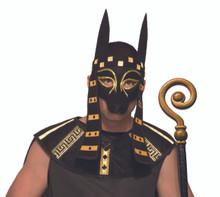 Anubis Mask Frontal with String Tie Egyptian Mardi Gras Mask