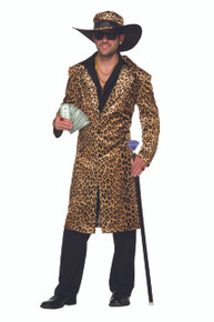 Pimp Big Daddy Funky Leopard Costume Adult