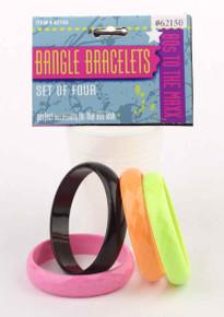 Bangle Bracelets 4 Assorted Colors Set
