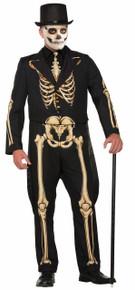 Skeleton Formal Men's Suit Print on Both Sides