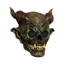 Green Death Mask with Brown Spirial Horns