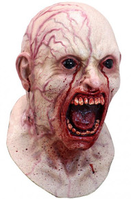 Infected Mask with Black Eyes and Bloody Mouth
