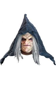 Hermelinda Mask Old Witch with back hanging shroud