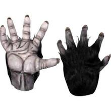 Chimp Black Hands Pair of Latex Gloves with Black Fur