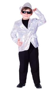 Sequined Blazer Child Size Jacket - Silver