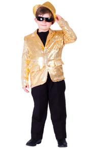 Sequined Blazer Child Size Jacket - Gold