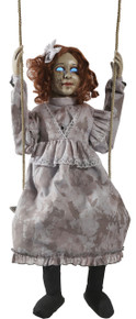 Swinging Decrepit Doll Animated Prop