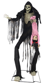 Towering Boogey Man with Kid Dangling Prop Life-sized Animated Decor