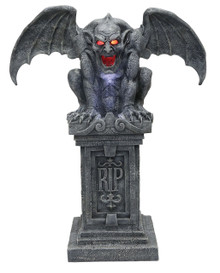 Stone Gargoyle with Sound and Lights