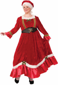 Mrs. Claus Dress Mob Hat & Corset Belt Plus