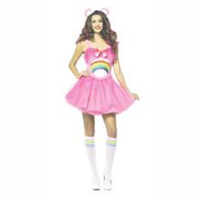 Carebears Cheer Bear Ladies Mini Tutu Dress Size Small/Medium