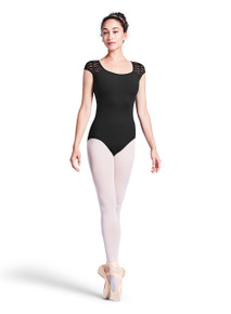 Bloch Teen Girl's Sheer Ladder Open Back Cap Sleeve Leotard