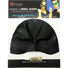 Hero Mask Customizable Latex Appliance, Spirit Gum & Stencils