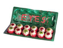 Cartoon of Eyes Green Plastic Egg Carton of Eyeballs 12