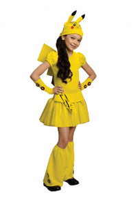 Pokemon Licensed Pikachu Girl's Costume