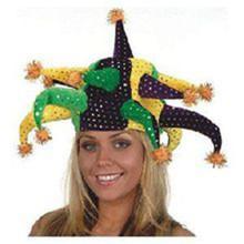 Mardi Gras 13 Horn Jester Hat