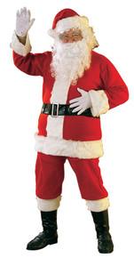 Santa Suit Flannel Lightweight 6pc XL 50-56 Jacket Size