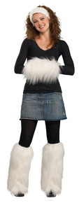 Faux Fur Kit White 3pc Headpiece, Muff, and Leg Warmers
