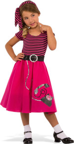 50's Girl Kid's Costume