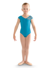 Asymmetric Cap Sleeve Leotard
