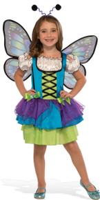 Glittery Blue Butterfly Kid's Costume