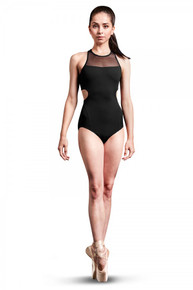 Cage Laser Back Zip Back Tank Leotard