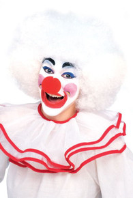 Afro Wig White Deluxe Clown Afro