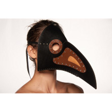 Bird Long Nose Frontal Mask Faux Leather