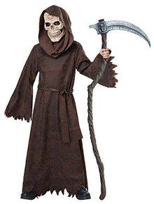 Ancient Reaper Brown Robe with Hood & Mask