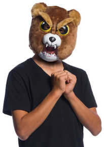 Feisty Pets Sir Growls-A-Lot Mask Kids Stuffed Animal with Attitude