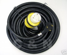 RV Power Cord with Hubbell Connector 50' 30 amp Detachable