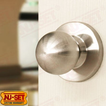 Heavy Duty Grade 2 Passage Knob Brushed Stainless Steel