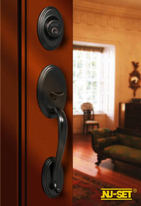 Oil Rubbed Bronze Entry Door Handleset - Custom Keyable