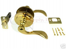 Santa Fe Polished Brass Passage Lever Lock - Brand New S-P-R
