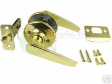 Polished Brass Passage Lever Set - Brand New!! N-P-3