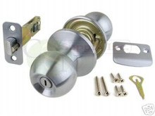 Satin Chrome Privacy Door Knob - Brand New!!