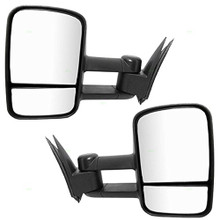 Tow Mirrors Manual Towing Side View Mirrors for 99-07 Chevy Silverado GMC Sierra