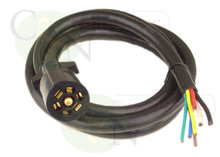 Universal Molded 7 Way Trailer Cord 20 foot RV Light Plug Wire Harness Connector