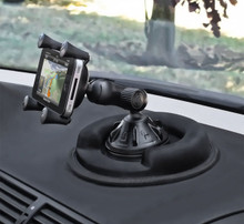 RAM Composite Twist Lock Suction Cup Mount with Universal X-Grip® Cell Phone Holder