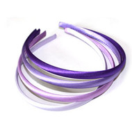 (HBPR9277) SATIN HEAD BAND 4PCS/CD