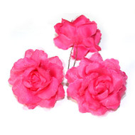 FLOWER HAIR PIN PAIR DZ