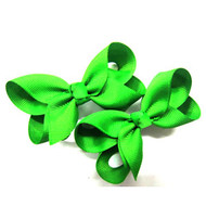 CLIP BOW PAIR DZ GREEN