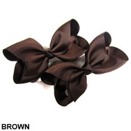 CLIP BOW PAIR DZ BROWN