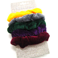 (QSD2523) VELVET SCRUNCHIE 5PCS/CD